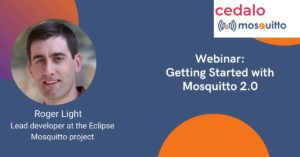 Webinar banner for the Mosquitto 2.0 webinar