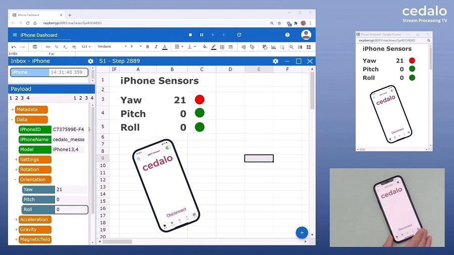 Process iPhone's sensor data